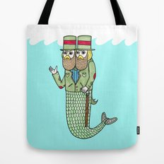 Portrait of a two headed merman Tote Bag