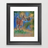 Bambi Butterfly Framed Art Print