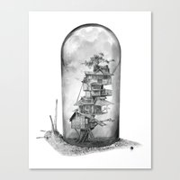 Snail - Evolving Home Canvas Print