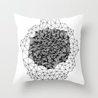 Geode Geometry Throw Pillow
