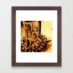 Metalwork and Wood Framed Art Print