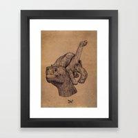 Lonely George  Framed Art Print