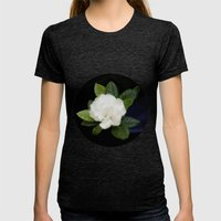 Gardenia in the garden - free shipping Womens Fitted Tee Tri-Black SMALL