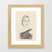 Kate Winslet Portrait Framed Art Print