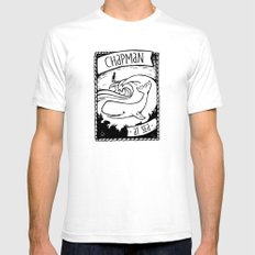 Chapman at Sea SMALL White Mens Fitted Tee