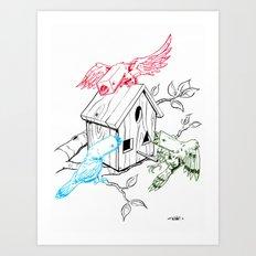RGBirds Art Print