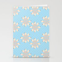 Blue Floral Ice Cream Stationery Cards