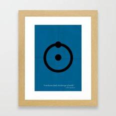 Dr, Manhattan Framed Art Print