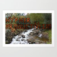 Art Print featuring Acoustic Typography: Hypher Productivism [ORANGE] by David Nuh Omar