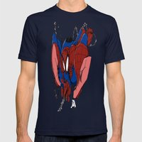 Spidey and the City Mens Fitted Tee Navy SMALL