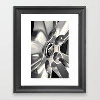 Jaguar XF Alloy. Framed Art Print