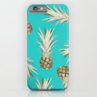 Pineapple Jam Turquoise iPhone 6 Slim Case