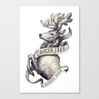 Ginger Deer Canvas Print