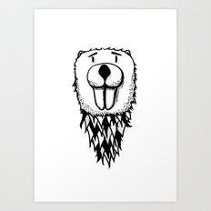 Beaver Sketch Art Print