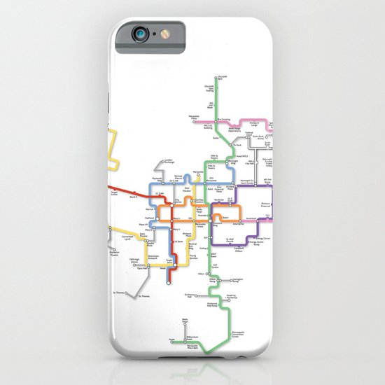 Minneapolis Skyway Map iPhone & iPod Case