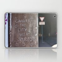 Canvas the City with Smiles Laptop & iPad Skin