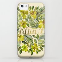 iPhone 5c Cases featuring Killin' It – Tropical Yellow by Cat Coquillette