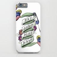 Eat Sleep Play Poop iPhone 6 Slim Case