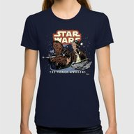 Chewie, We're Home Womens Fitted Tee Navy SMALL