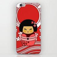 Kokeshi Sakura iPhone & iPod Skin
