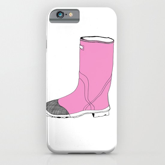 Whimisical Wellie in Pink iPhone & iPod Case