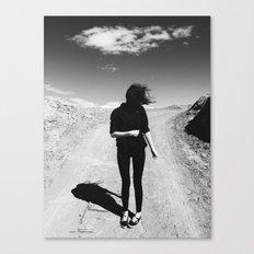Windy Hair Canvas Print