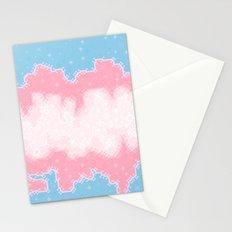 Trans Pride Flag Galaxy Stationery Cards