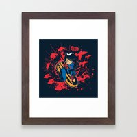 Help Fight Heroism Framed Art Print