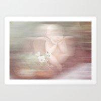 Dreaming Angel Art Print