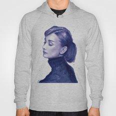 Audrey Hepburn Watercolor Portrait Hoody