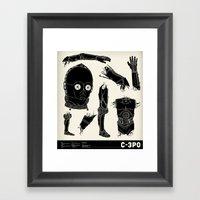 Decommissioned: C-3P0 Framed Art Print