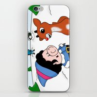 Hanging With Rudolph iPhone & iPod Skin