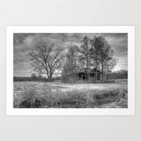 Hidden Home In Black And… Art Print