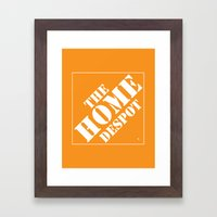 Home Despot Framed Art Print