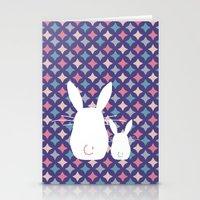 Bunny / Vintage pattern #4 Stationery Cards