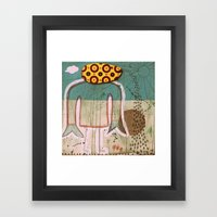 sun and sea Framed Art Print