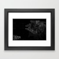 Millenium Falcon Framed Art Print