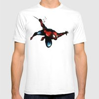 Spider Man Mens Fitted Tee White SMALL