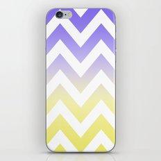 BLUE & YELLOW CHEVRON FADE iPhone & iPod Skin