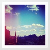 Sky Over Williamsburg Art Print