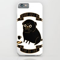 iPhone & iPod Case featuring Tea Pug by Binnyboo