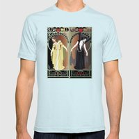Legend Nouveau - Mirrored Mens Fitted Tee Light Blue SMALL