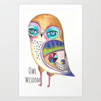 Owl Wisdom Art Print