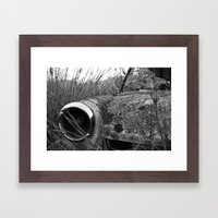 Nature reclaiming a vw squareback 01 Framed Art Print