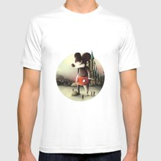 Mickey's Kingdom Mens Fitted Tee SMALL White