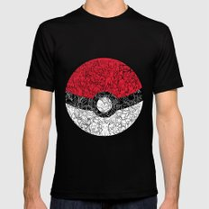 ONE BALL TO CATCH THEM ALL SMALL Mens Fitted Tee Black