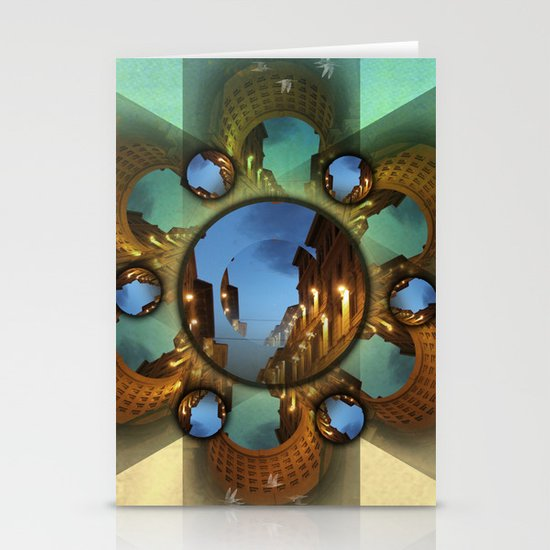 Emerald orbit Stationery Card