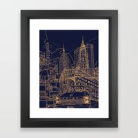 New York! Night Framed Art Print