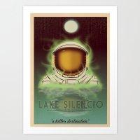 Visit Lake Silencio! Art Print