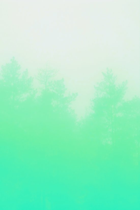 Out of focus - cool green Art Print